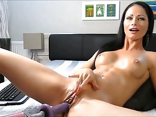 Oiled Latina Milf Fuck Machine Orgasm