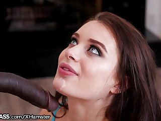 Lana Rhoades Deep Mouthful of Chocolate Cock