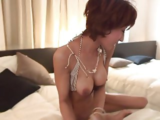 Busty whore loves getting her clit teased with toys