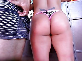 THICK LATINA MILF IN THONG