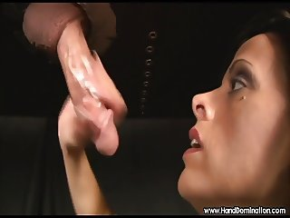Financial blackmail gloryhole blowjob