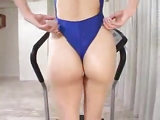 Sexy swimsuit workout