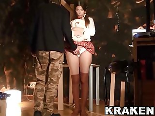 Krakenhot - Submissive schoolgirl spanked in a BDSM scene