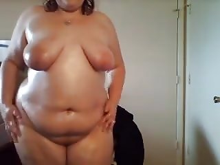Bbw webcam oil tease