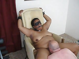 C being eaten out in restraints