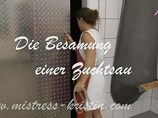Pig Play - Insemination of a Sow - Butcher Mistress Kristin