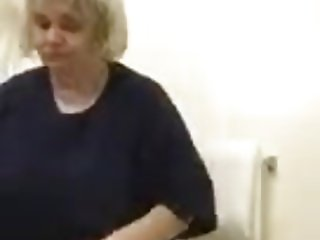 Granny in the shower