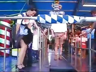 Upskirt at Oktoberfest (360p)