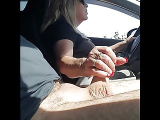 handjob in the car