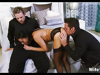 Upscale Wife wants 2 Cocks at once