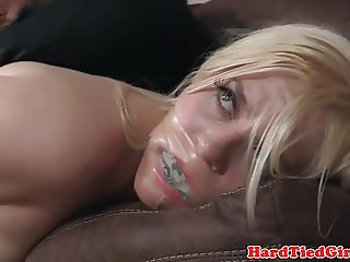Tied bdsm sub fingered and toyed by maledom
