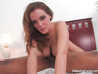 All natural Natasha Nice takes a BBC in bed