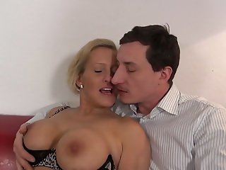 Sweet MILFs get young cum on their faces