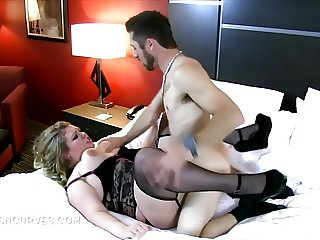 Sexually frustrated secretary takes it out on her husband