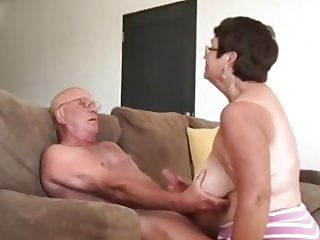 Wife giving husband a blow hand job