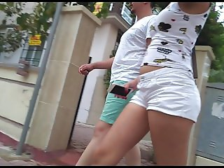 exhibitionist teen wiggling