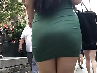 THICK ASIAN BOOTY SKIN TIGHT DRESS NO PANTIES