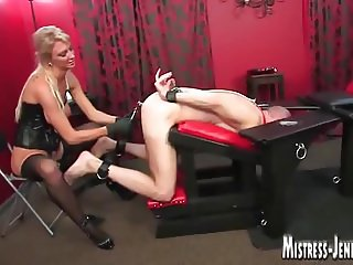 Hot Femdom Mistresses punish male slaves