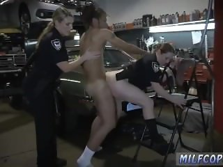 Blonde milf big tits orgasm police officer