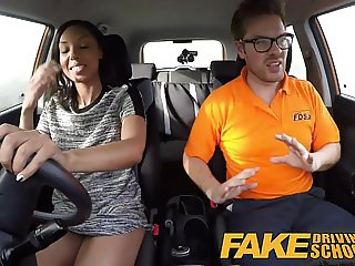 Fake Driving School three creampie clips with black girls an