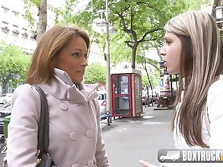 Hot Szilvia Lauren surprised by the lesbian model agent