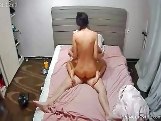 Babe with a big ass rides fast