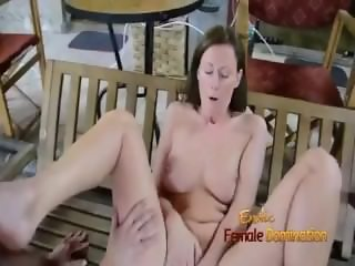 Office woman gets her employee as toy