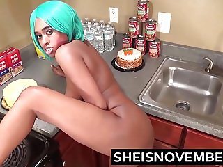 Young Step Sister Msnovember In Kitchen Giving Blowjob & Sex