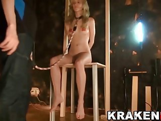 Krakenhot - Blonde young girl in a Submission BDSM casting