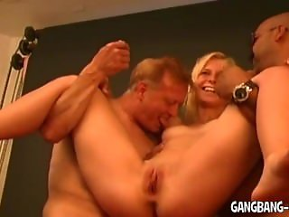 Young amateur girls gangbanged by plenty of old guys