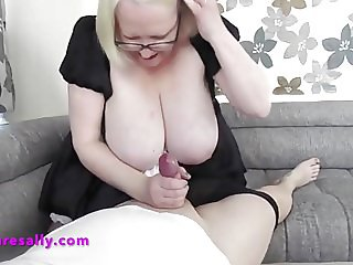 Sally makes her friends cock hard