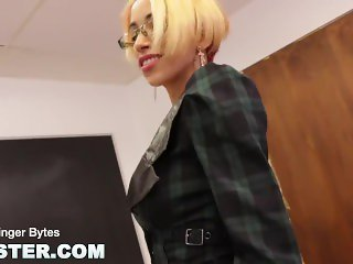 CAMSTER - In The Classroom with Skinny Cam Girl Ginger Bytes