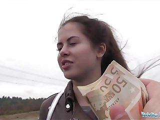 Public Agent Wet Russian Cassie Fire Speads Legs For Cash