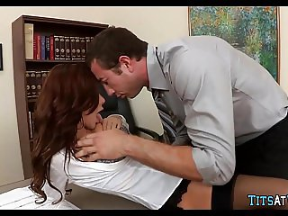 Pantyhose Slujt in the Office