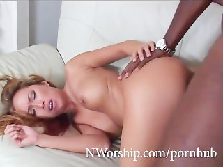 Petite Asian slut taking in the ass big black cock interracial anal sex