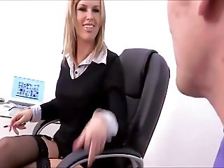 Hot Milf chav office worker