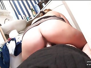 Amateur french couple fucking in the bathroom in POV