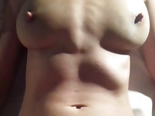 Orgasm from hard cock on clit play