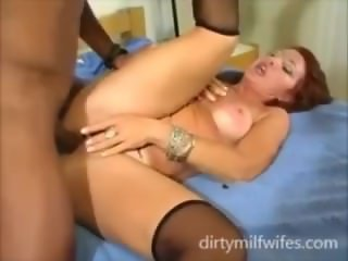 mom going wild in the bed with young guy