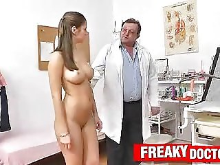 Old with young doctor exam feat. Jennifer Amton
