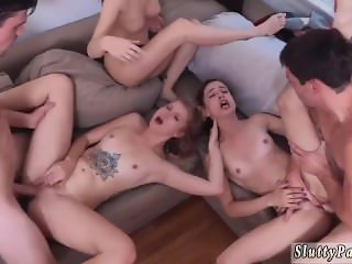 Ebony orgy dick Dorm Party