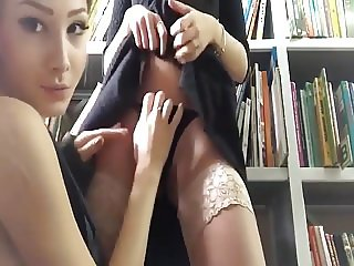 Russian Lesbians in Library