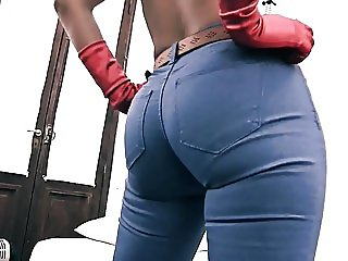 een Perfect Ass Perfect Cameltoe Brunette Babe Winona Jeans