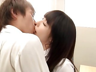 Japanese schoolgirl Arisu Hayase is tempting a boy