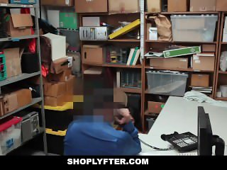 Shoplyfter - Cute Teen Fucks Creepy Cop