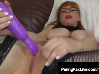 Super Sweet Penny Pax Stimulates Her Pussy With A Vibrator!