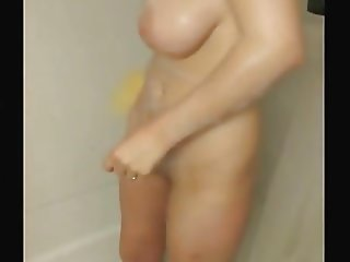 Sexy Wife Gets Soapy in Shower
