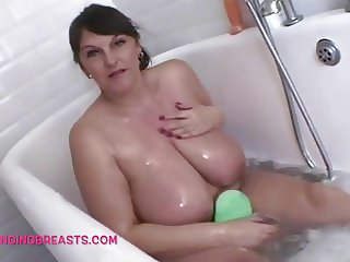 Carol Brown displays her superb tits