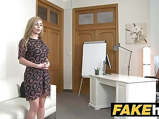 Fake Agent Hot Blonde Big Tits Russian gets a Facial.mov