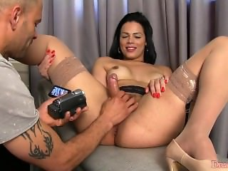 Shemale Bruna Castro gets her prostate fingered
